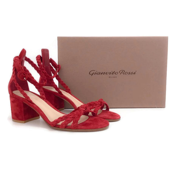Gianvito Rossi Red Liya Pumps