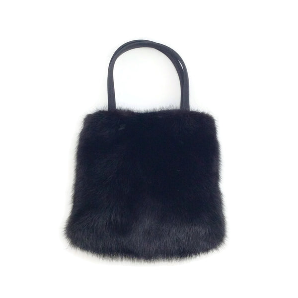 Jimmy Choo Black Mink Mini Tote