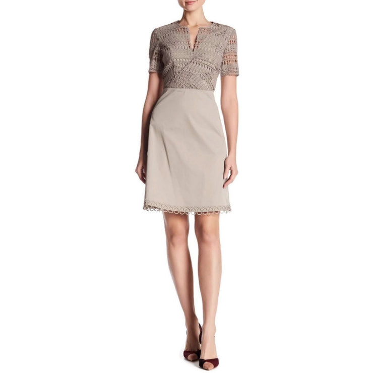 Elie Tahari Beige Kinley Dress