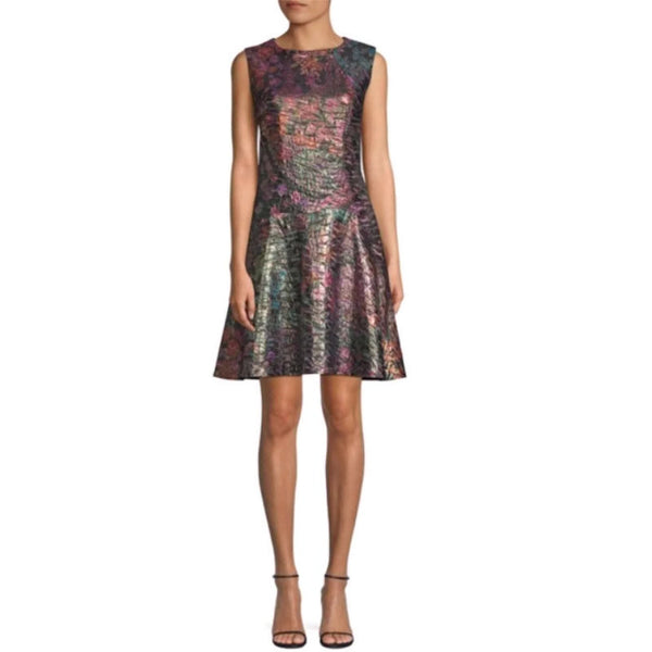 Natori Multicolored Jacquard Bohemia Garden Dress