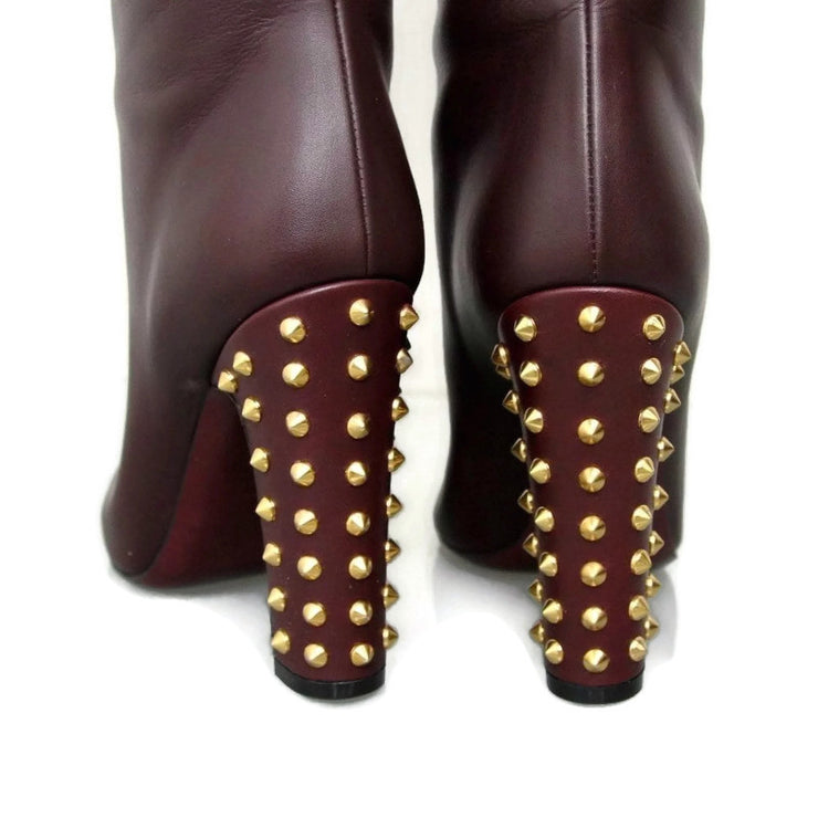 Gucci Burgundy Jacquelyn Boots