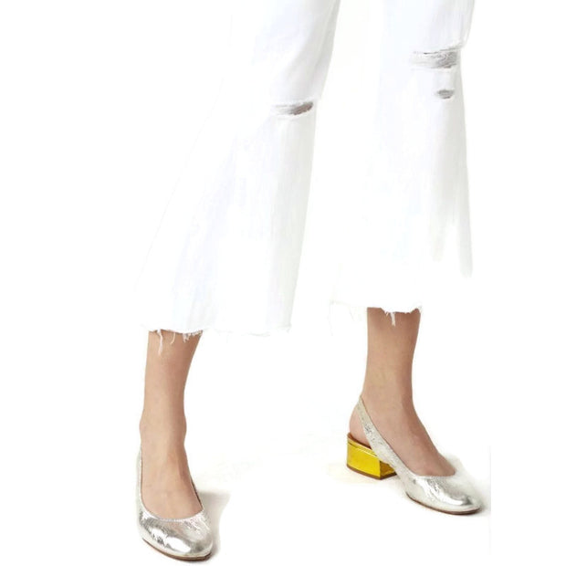 3X1 White Higher Ground Aspo Flare Leg Jeans