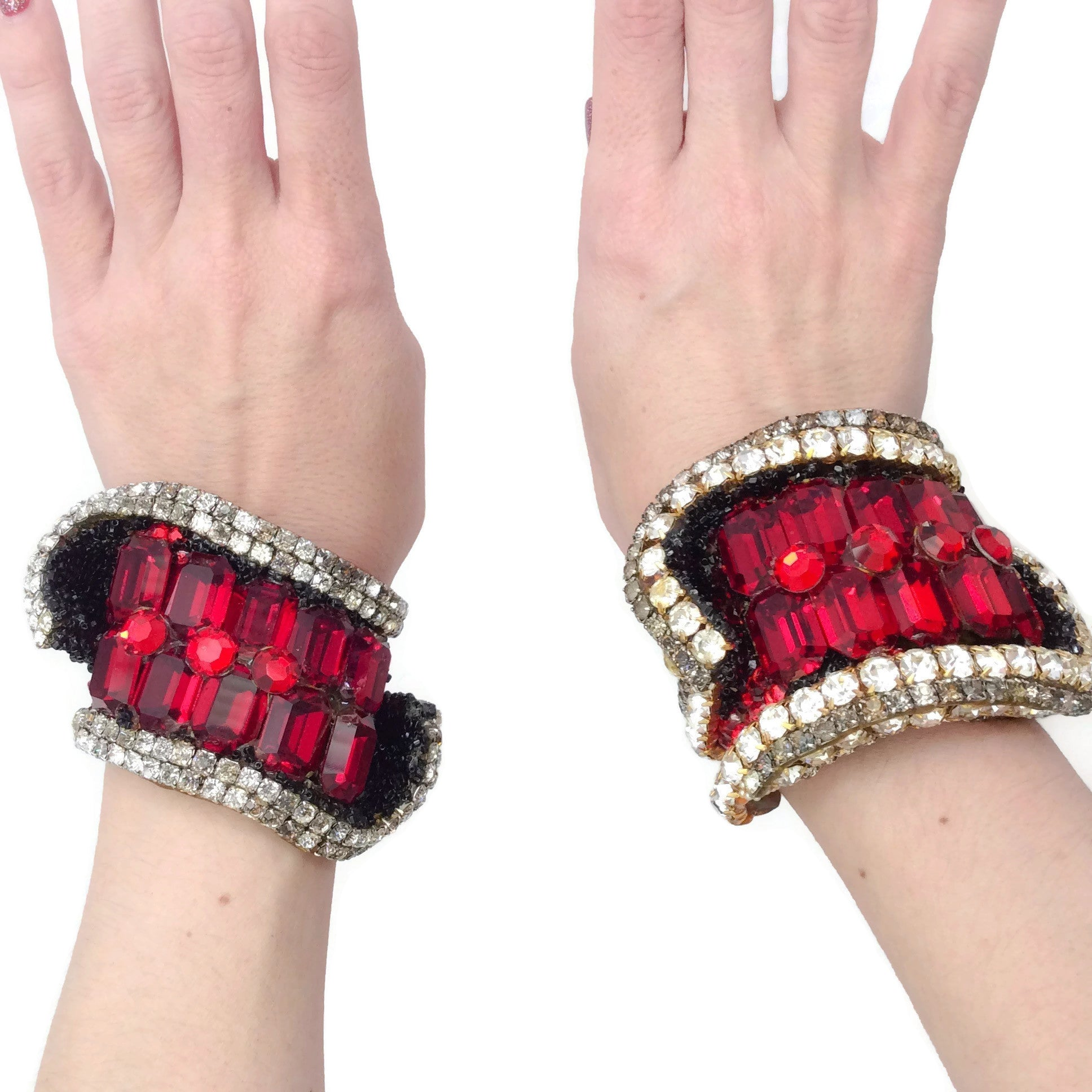 Wendy Gell Set Of 2 Large Cuff Bracelets