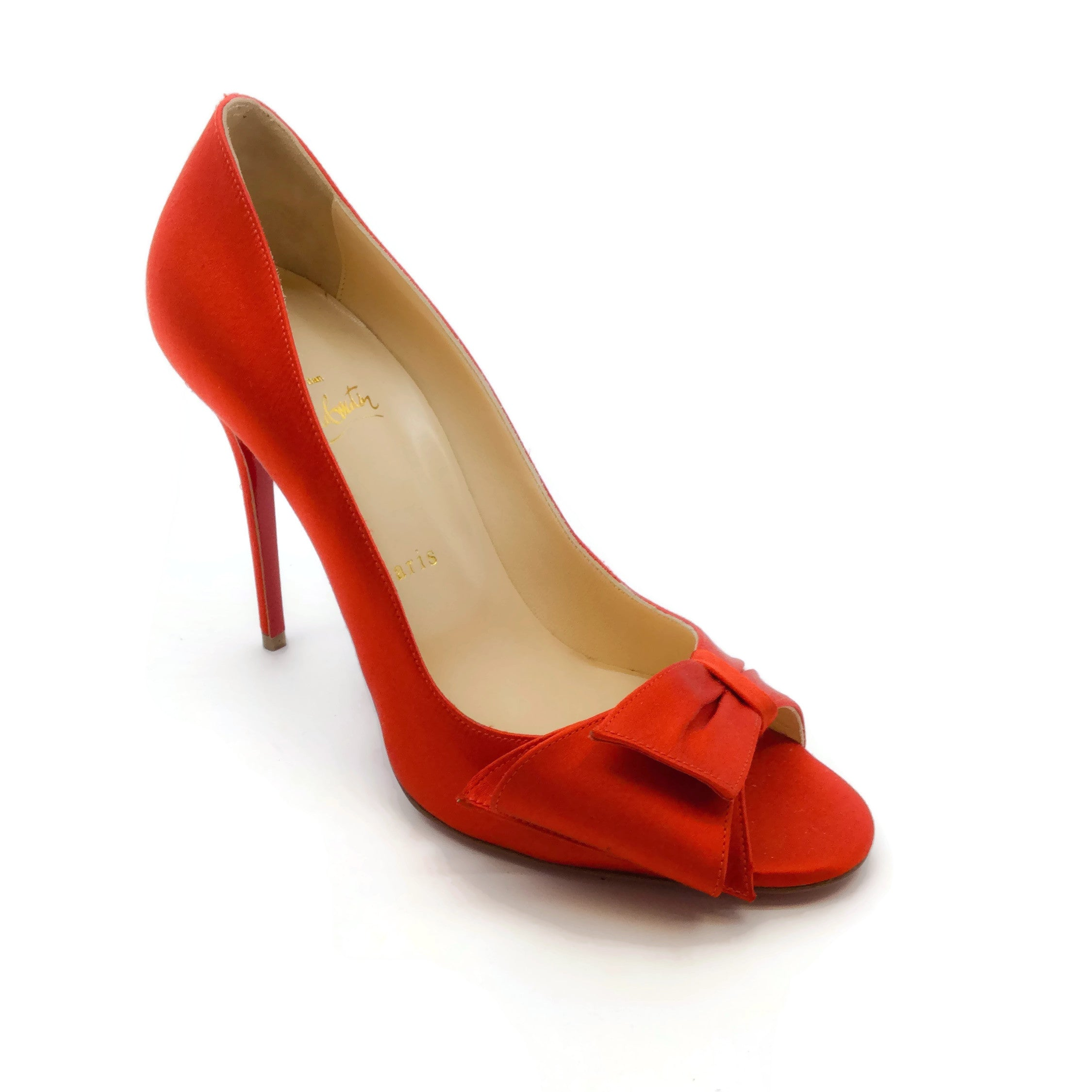Christian Louboutin Red Peep Toe Pumps