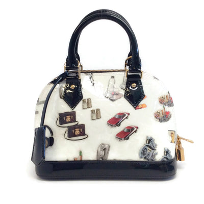Louis Vuitton Alma Monogram Vernis Stickers Bb White Multi Coated Leather Bag