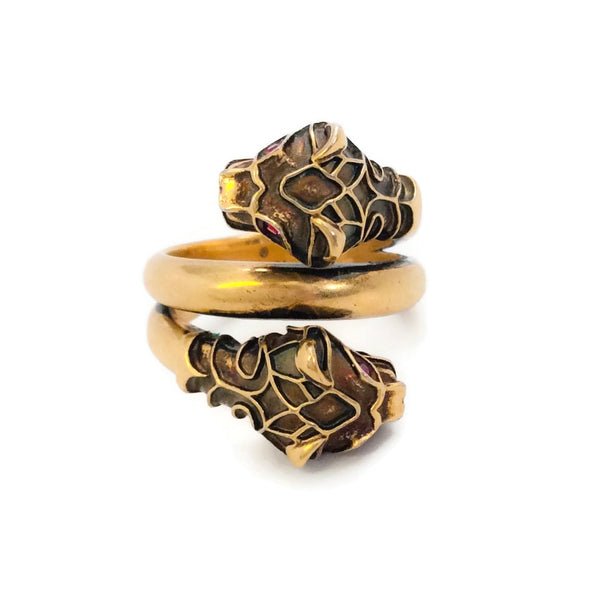 Gucci Gold Tiger Head Ring