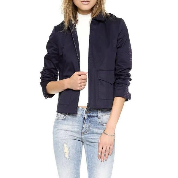 Tory Burch Navy / Red Lane Jacket