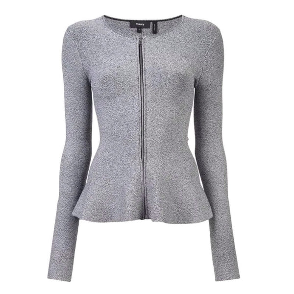 Theory Grey Peplum Jacket