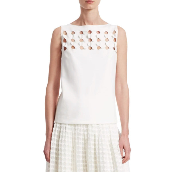Akris Punto White 3d Petals Tank Top