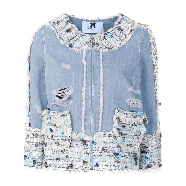 Blumarine Blue Denim / Tweed Jacket