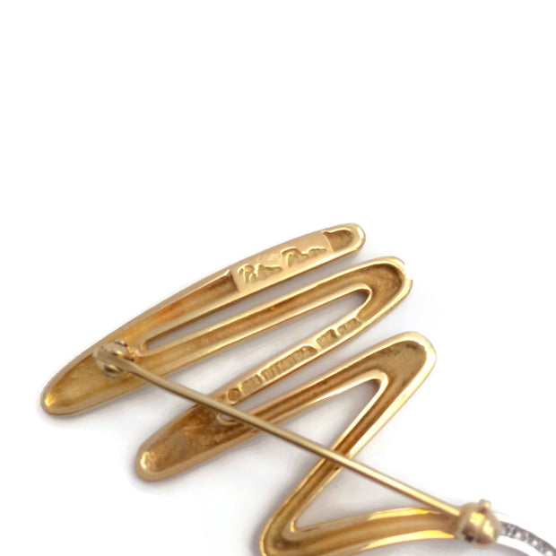 Tiffany & Co. Gold Paloma Picasso Zig Zag Brooch