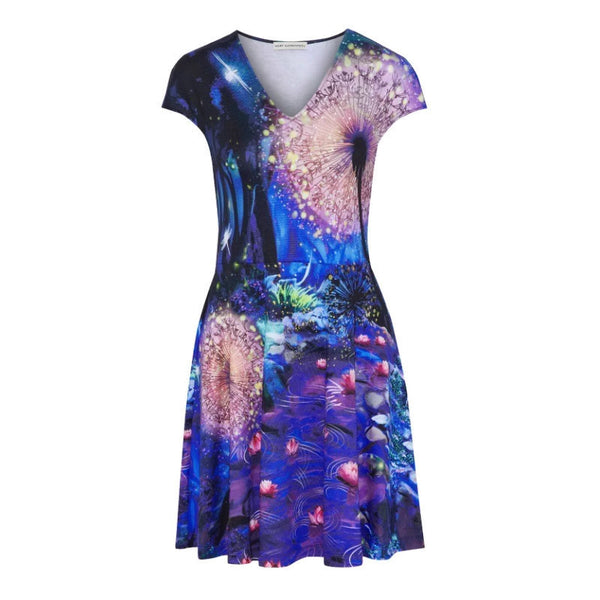 MARY KATRANTZOU Blue / Multicolored Pinto Casual Dress