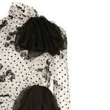 Giambattista Valli Black / White Cherry Print Dress