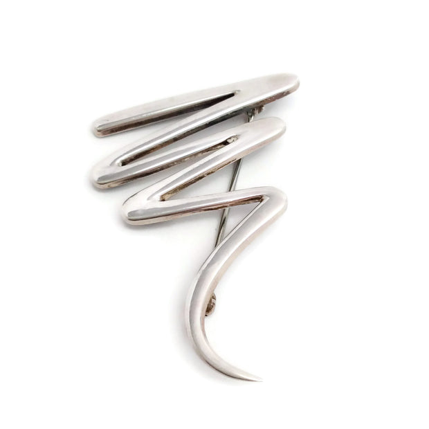 Tiffany & Co. Sterling Silver Paloma Picasso Zig Zag Brooch