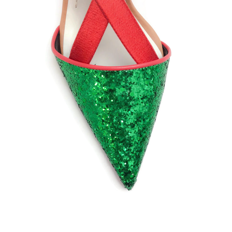 UNDERCOVER Green Glitter Pumps