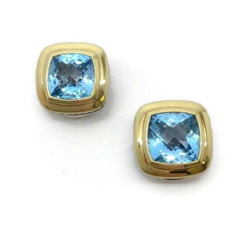 David Yurman Blue Topaz Earrings