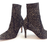 Gianvito Rossi Black / Bisque Fiona Knit Boots