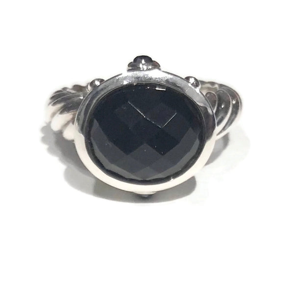 David Yurman Onyx Hematite Ring
