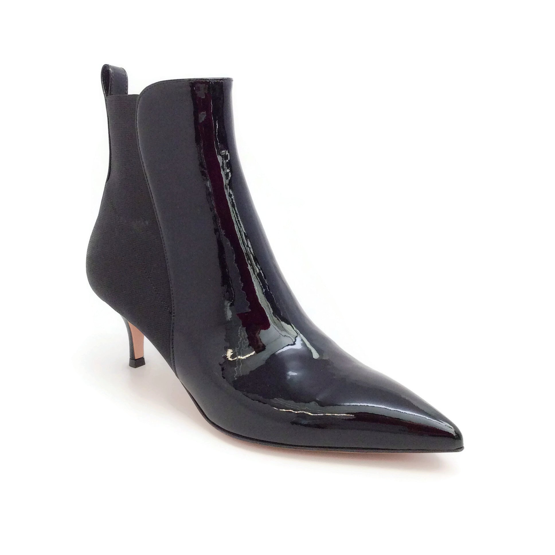 Gianvito Rossi Black Patent Phoebe Boots