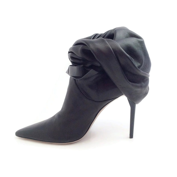 Miu Miu Black Pleated Slouch Boots