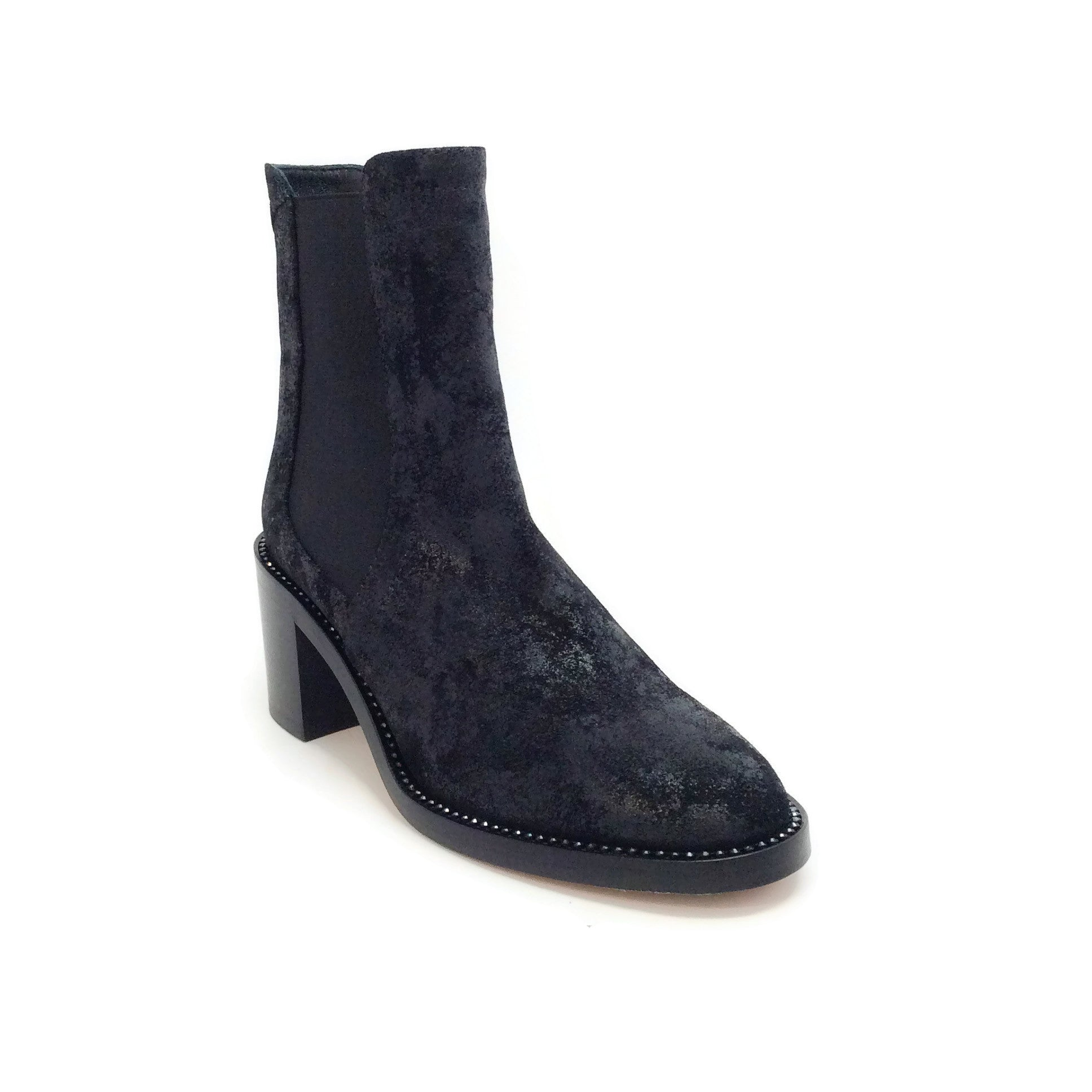 Jimmy Choo Black Suede Wetlook Merril Boots