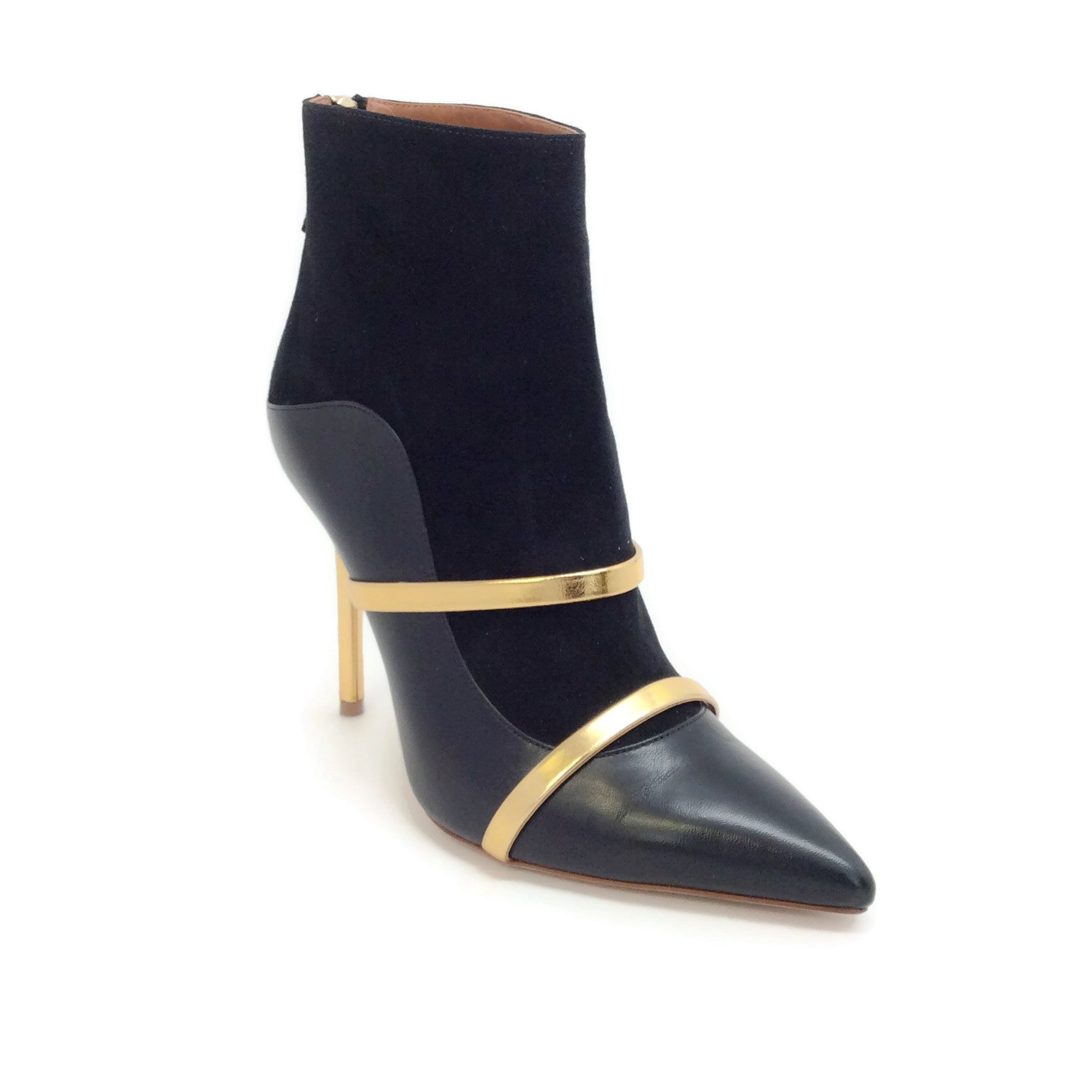 Malone Souliers Black / Gold Madison Boots