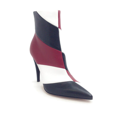 Gianvito Rossi Black / White / Red Hadley Boots