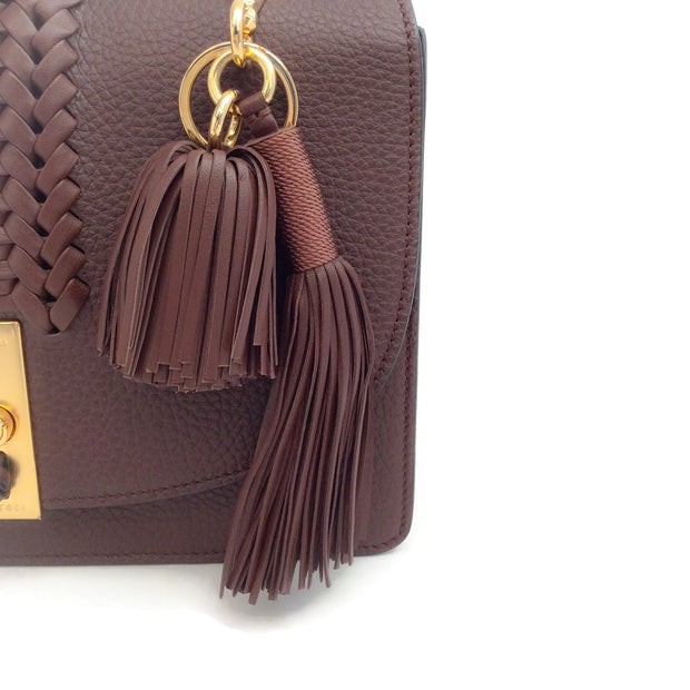 Altuzarra Ghianda Brown Pebbled Leather Shoulder Bag