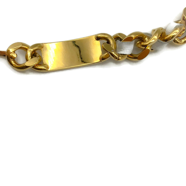 Chanel Gold Spring 1995 Leather Chain Belt