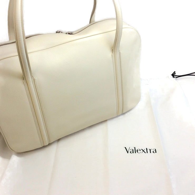 Valextra Briefcase Bone Leather Tote