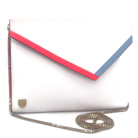 Dior Wallet On Chain White Leather Shoulder Bag