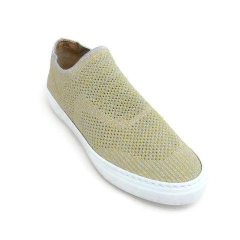 Fabiana Filippi Gold Lurex Monia Slip On Sneakers