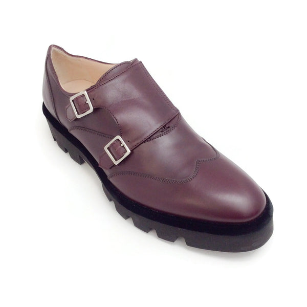 Fabiana Filippi Oxblood Costanza Loafer with Buckles