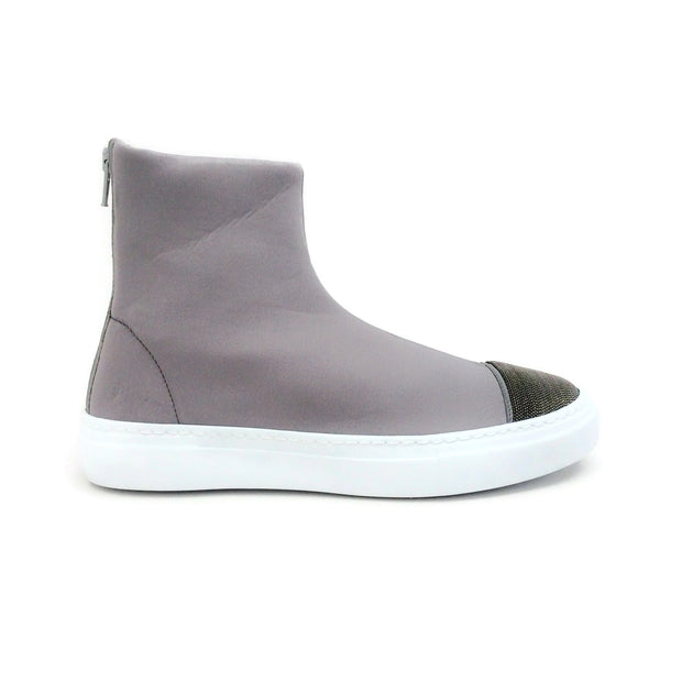 Fabiana Filippi Grey Costanza Neoprene High Top Sneaker Boots