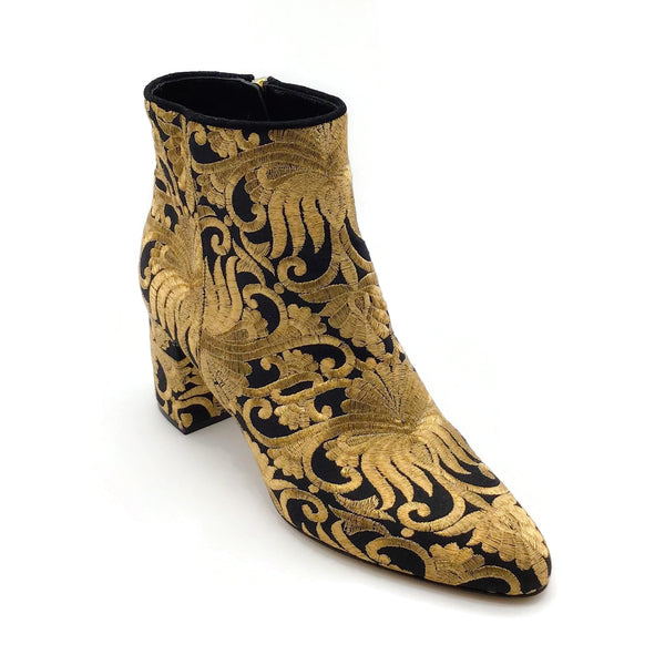Sebastian Gold / Black Embroidered Boots