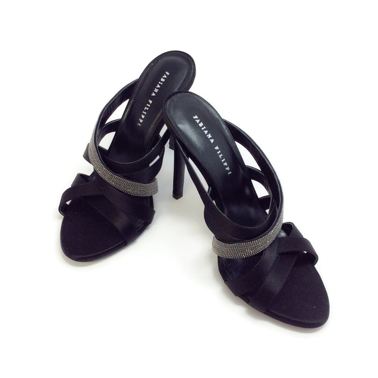 Fabiana Filippi Black Vittoria Sandals