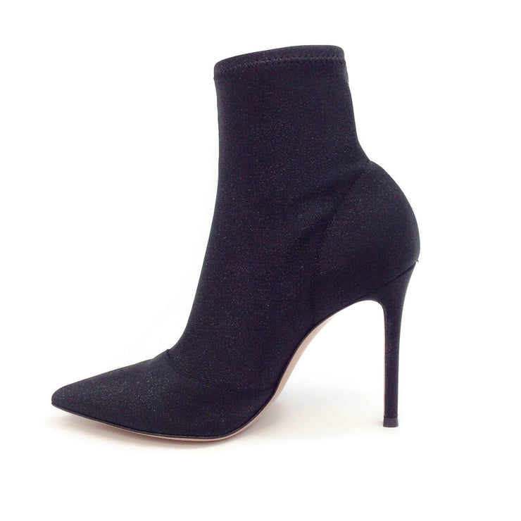 Gianvito Rossi Empire Black Glitter Boots