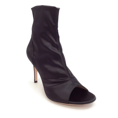 Gianvito Rossi Black Satin Lavish 85 Boots