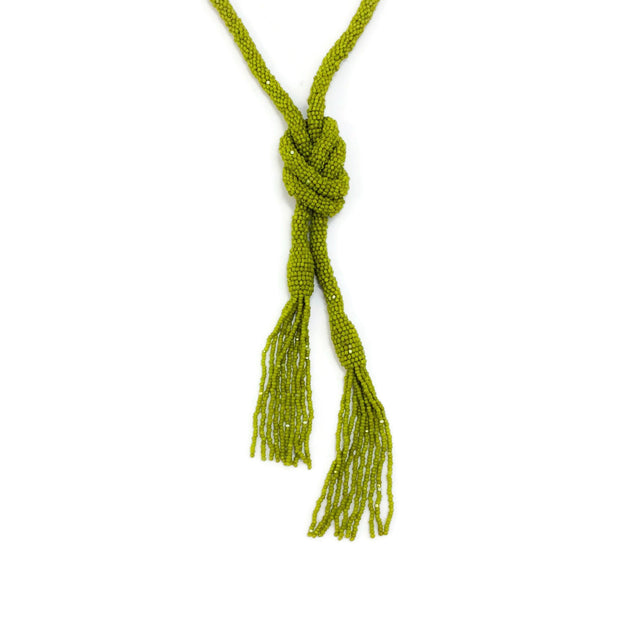 Oscar de la Renta Citrus Tassel Necklace