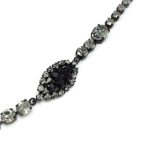 Nina Ricci Black Crystal Necklace