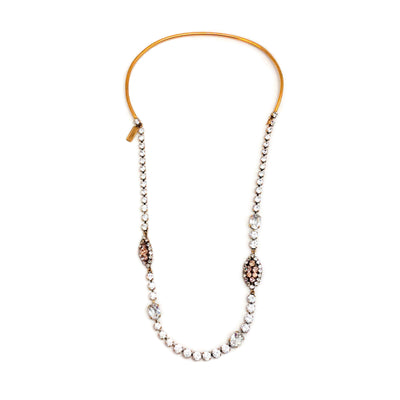 Nina Ricci Gold / Pink Crystal Necklace