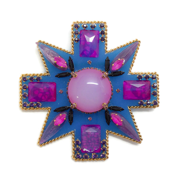 Erickson Beamon Blue / Purple Girls On Film Brooch