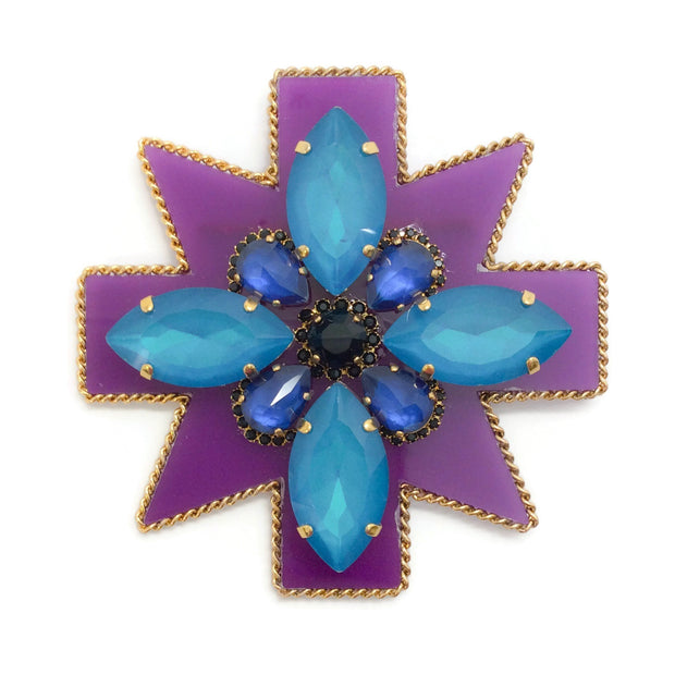 Erickson Beamon Purple / Blue Girls On Film Brooch