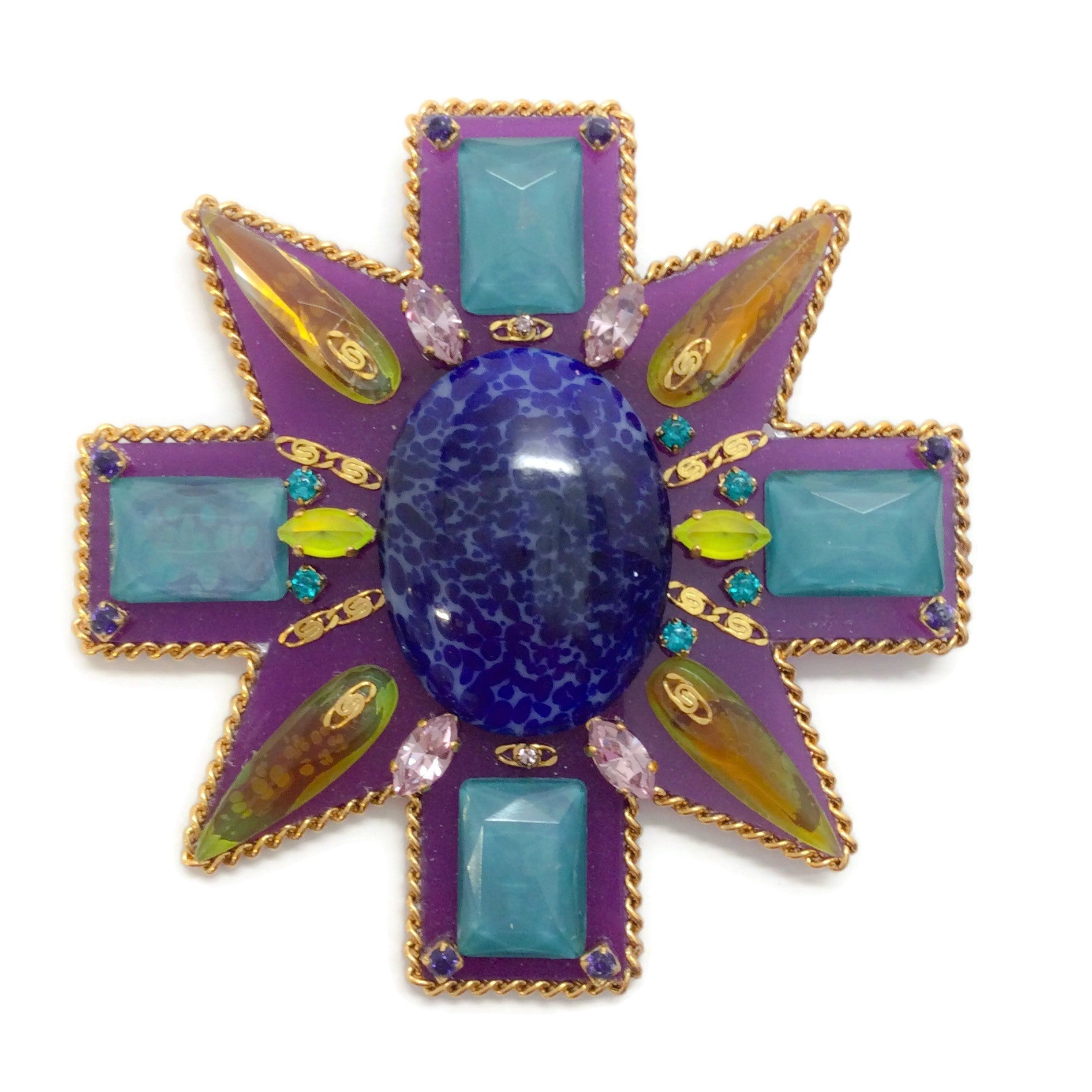 Erickson Beamon Blue / Turquoise Girls On Film Brooch