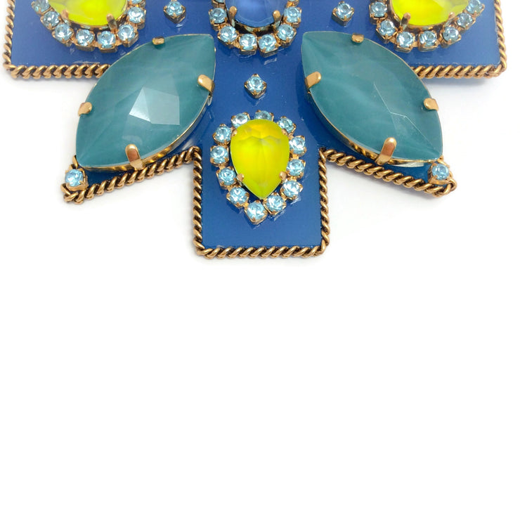 Erickson Beamon Blue / Yellow / Multi Girls On Film Brooch