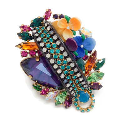 Erickson Beamon Multicolor Crystal and Enamel Ring