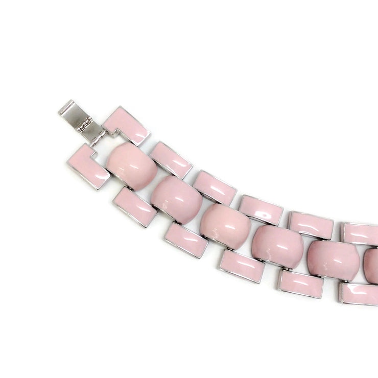 J.W.Anderson Pink / Silver Chunky Enamel Necklace