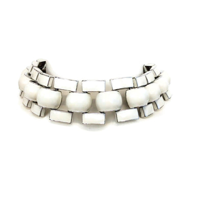 J.W.Anderson White / Silver Chunky Enamel Link Necklace