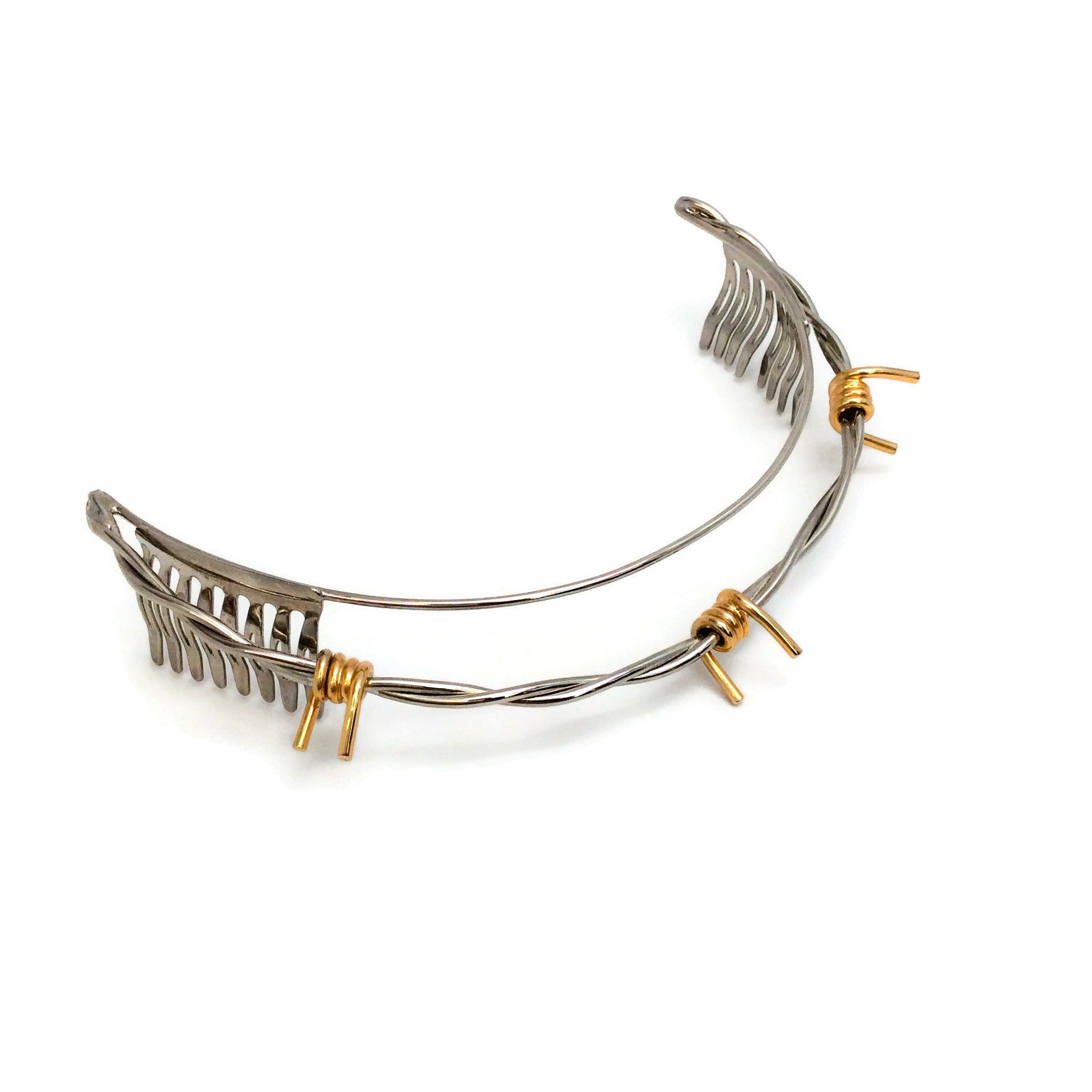 Rodarte Silver / Gold Barbed Wire Headband