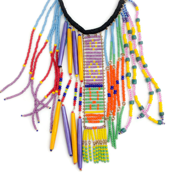 Erickson Beamon Multicolor Beaded Bib Necklace